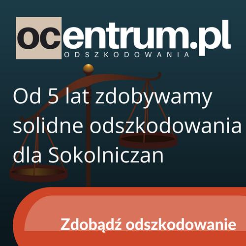 ODSZKODOWANIA Z OC - OCENTRUM - 10minut z Sokolnik